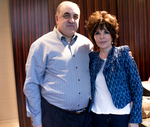 At the party: Carole Bayer Sager with the founder and CEO of BIONOVA, Dr. Michael Danielov. (PRNewsFoto/BIONOVA)