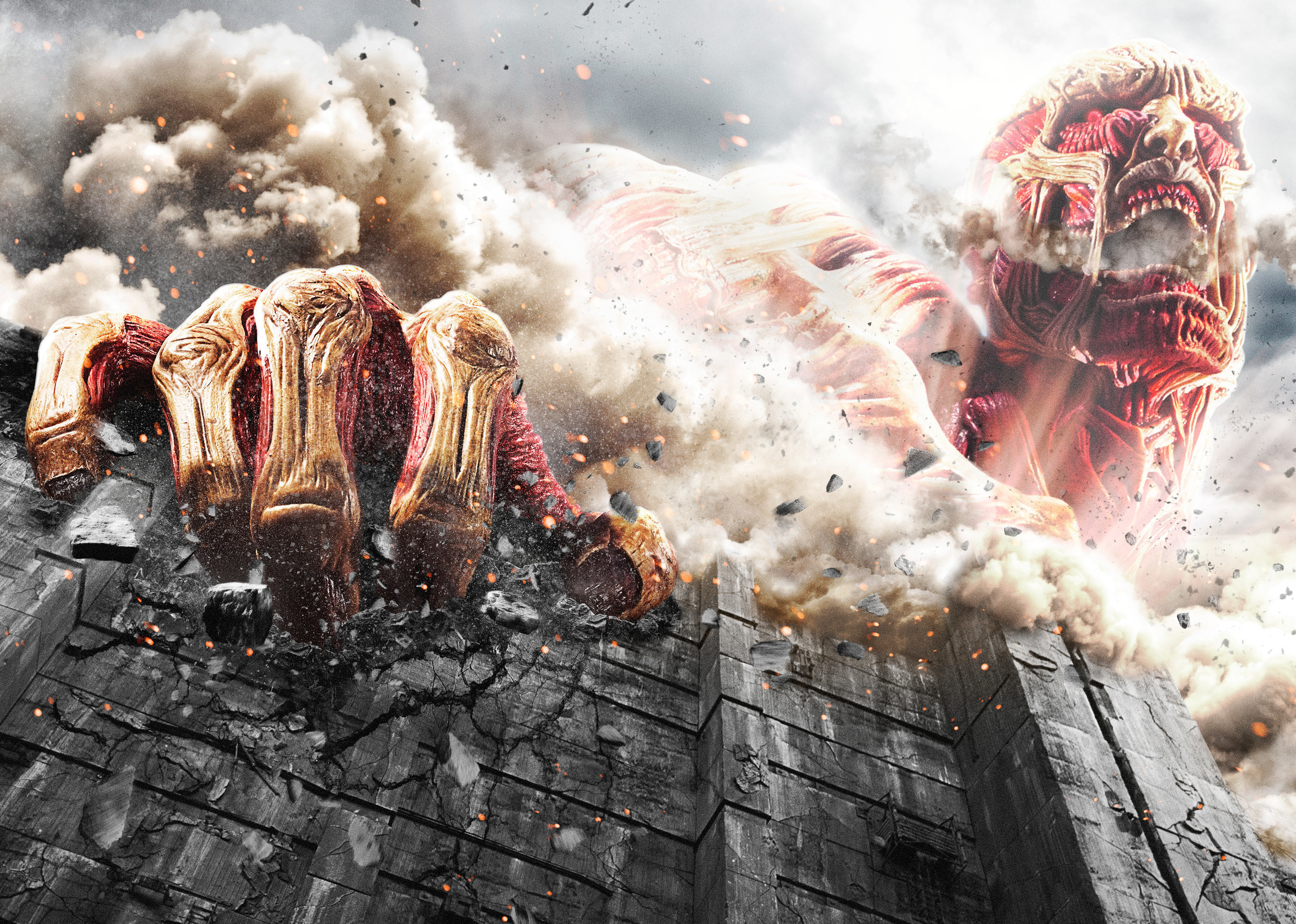 "Still from ""Attack on Titan"" live action movie."
