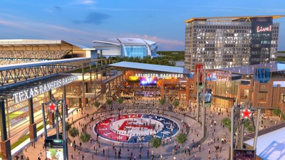 Texas Live! will set a new standard in sports-anchored developments and will include 200,000 square feet of best-in-class local, regional and national dining and entertainment; an upscale, full-service 300-room convention hotel; a 35,000 square foot meeting/convention facility; and a 5,000-capacity outdoor event pavilion in the first phase of development.