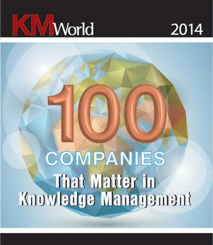 Linguamatics named in KMWorld 100 companies that matter.  (PRNewsFoto/Linguamatics)