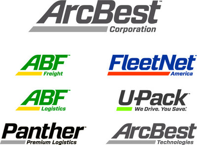 ArcBest Corporation family of logos. (PRNewsFoto/Arkansas Best Corporation)
