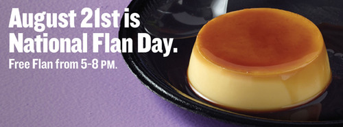 Taco Cabana introduces Flan. The delicious new dessert is a chilled, light Mexican custard drizzled with a rich  ...