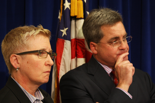 Therese M. Stewart (left), chief deputy city attorney of San Francisco, is poised to become the first out ...