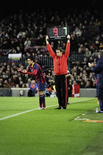 Maurice Lacroix and FC Barcelona 4th referee LCD screen (PRNewsFoto/Maurice Lacroix S.A.)
