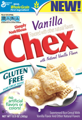 Chex(R) Expands Family of Gluten-Free Cereals with New Vanilla Chex with Natural Vanilla Flavors.  (PRNewsFoto/Chex)