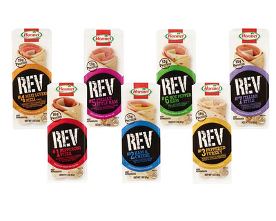 New Hormel(R) REV(R) Wraps Energize the Protein-Based Snack Category.  (PRNewsFoto/Hormel Foods)