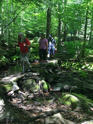 Wounded veterans go for an adaptive hike in the Catskills. Photo courtesy of Adaptive Sports Foundation.