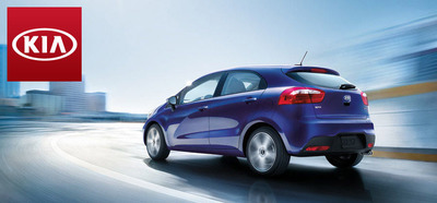 As a subcompact, the 2014 Kia Rio is capable of traveling up to 37 mpg on the highway.  (PRNewsFoto/Briggs Kia)