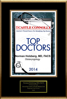 Dr. Norman Holzberg is recognized among Castle Connolly's Top Doctors(R) for West Orange, NJ region in 2014.  (PRNewsFoto/American Registry)