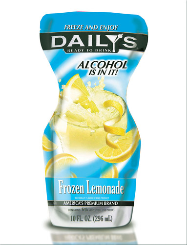 Daily's Frozen Lemonade Pouch, just stick this pouch in the freezer and in hours will have a frozen slushy ...