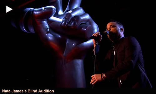 Nate James Performs During The Voice UK Blind Auditions.  (PRNewsFoto/Project Producers)