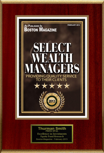 """Thurman Smith Selected For """"Select Wealth Managers"""". (PRNewsFoto/American Registry) ..."""