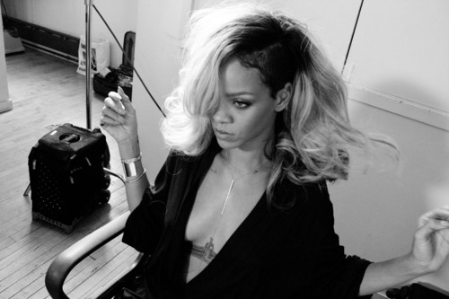 Behind The Scenes Image From The Rogue by Rihanna Campaign Shoot.  (PRNewsFoto/Parlux Fragrances LTD)