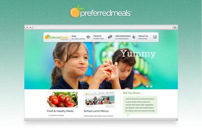 Preferred Meals Website Design.  (PRNewsFoto/SWC Technology Partners, Inc.)