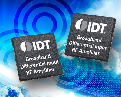IDT Announces Broadband Differential Input RF Amplifier, Simplifying RF DAC and Integrated Transceiver-Based Designs