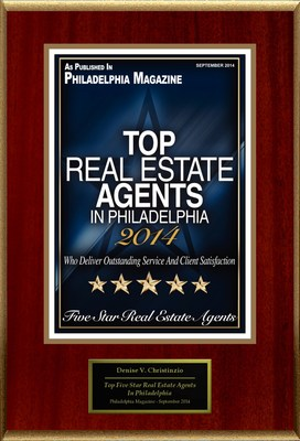 "Denise V. Christinzio Selected For ""Top Five Star Real Estate Agents In Philadelphia"" (PRNewsFoto/American Registry)"