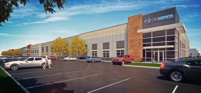 Rendering of the new Biomerics Advanced Catheter facility in Brooklyn Park, Minnesota. Courtesy of Scannell Properties. Copyright 2016.