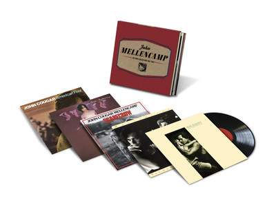 Five John Mellencamp albums have been scheduled for reissue on 180-gram vinyl LPs on June 10 by Mercury/UMe. New lacquers for 'American Fool,' 'Uh-Huh,' 'Scarecrow,' 'The Lonesome Jubilee,' and 'Big Daddy' were cut from their original analog master tapes by Chris Bellman at Bernie Grundman Mastering, with the vinyl LPs manufactured by Record Industry. The albums are available now for preorder, individually and gathered in a limited edition 5-LP vinyl box set, The Vinyl Collection 1982-1989.
