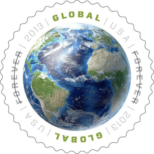 Introducing the New Global Forever Stamp.  One Price for First-Class Mail International 1-Ounce Letters to Anywhere, Worldwide.  (PRNewsFoto/U.S. Postal Service)