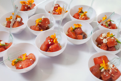 Chilled Watermelon Salad served at the grand opening of the Cambria hotel & suites New York-Chelsea
