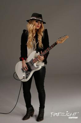 Guitar Superstar Orianthi Endorses Fretlight Learning System.  (PRNewsFoto/Fretlight Guitar)