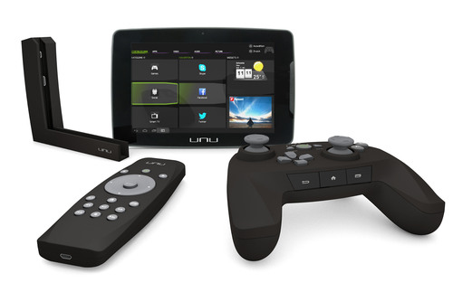 unu is the world's first HD-display Android tablet that can be docked to your TV and used as a smart TV and video game microconsole.  It launches in November at Gamestop, BestBuy.com, Walmart.com, Amazon.com, and Newegg.com.  (PRNewsFoto/Sunflex USA)