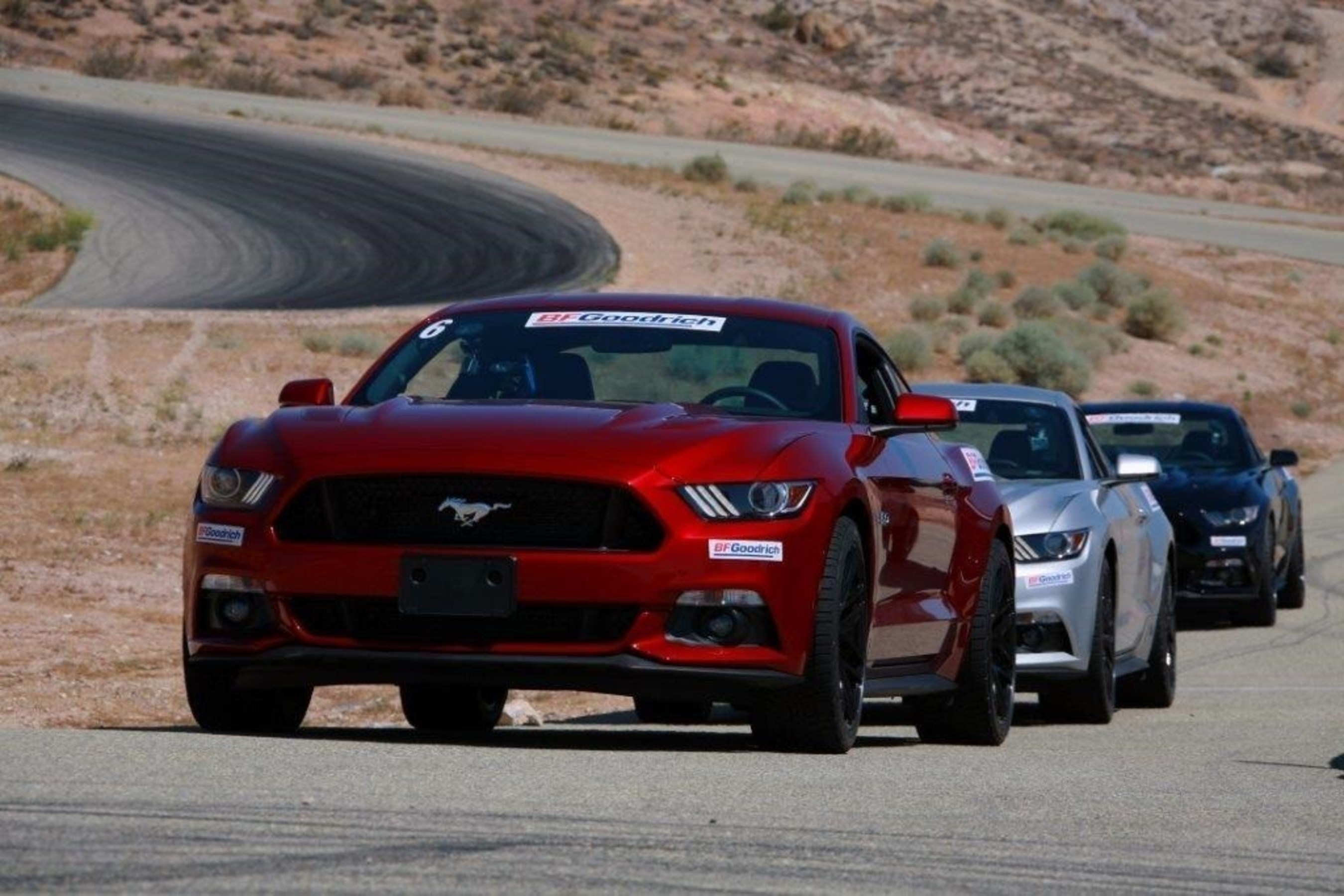 """Drivers competed to prove they were """"Driver Enough"""" both on- and off-road, including in a 2015 Ford Mustang GT with BFGoodrich(R) g-Force(TM) COMP-2(TM) A/S ultra-high performance tires."""