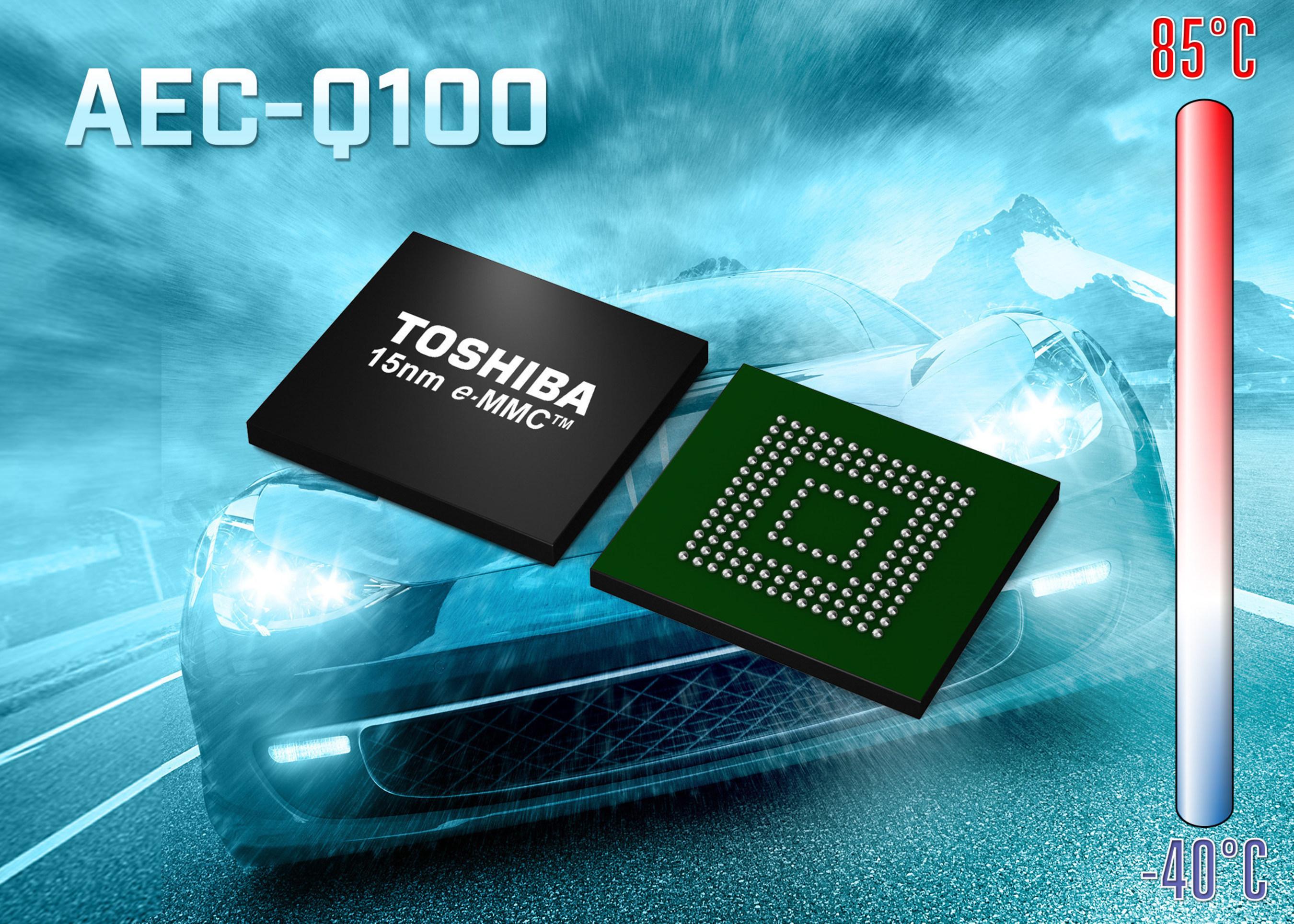 Toshiba Debuts 15nm e-MMC NAND Flash Memory for Automotive