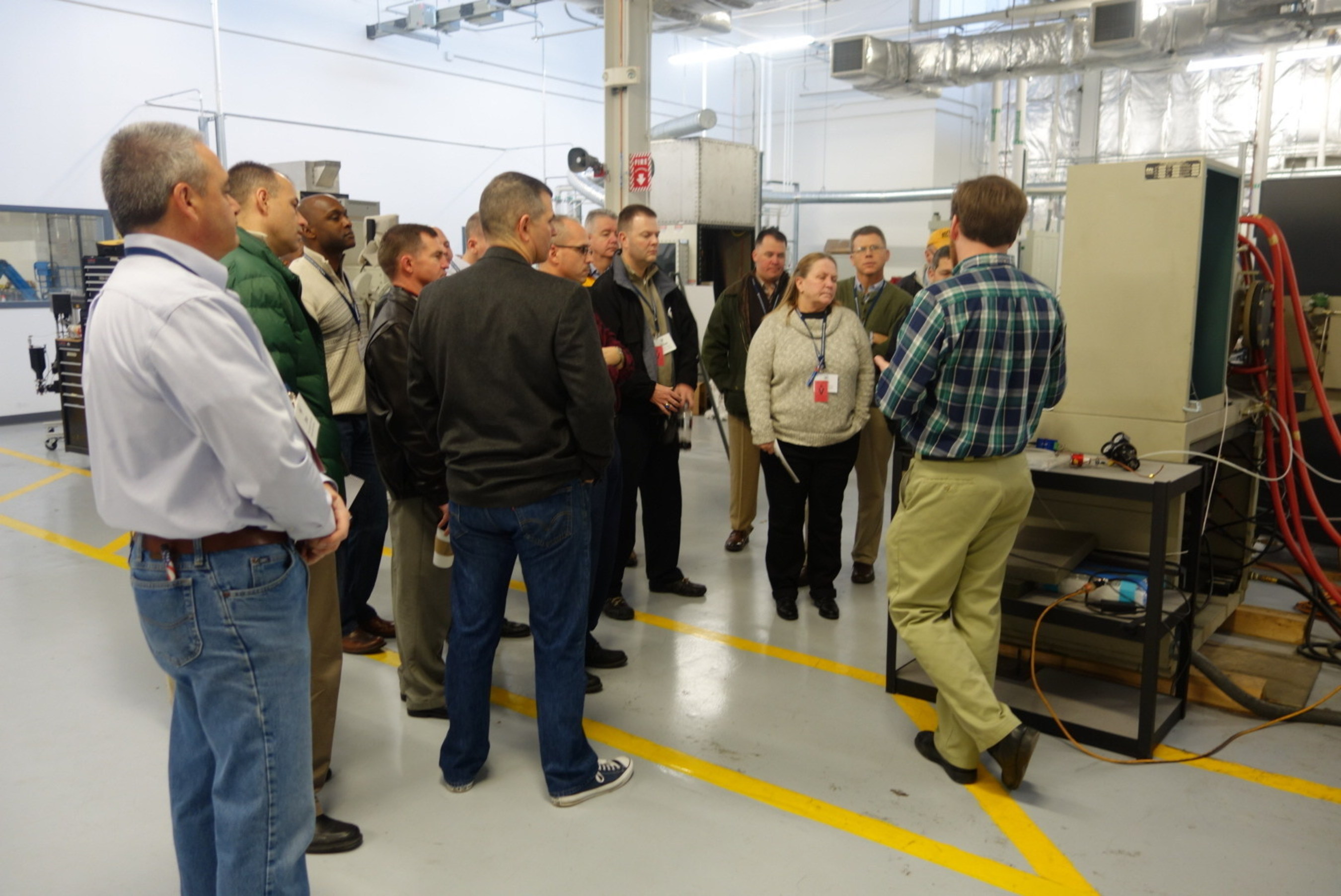 Depot and Arsenal Executive Leadership Program (DAELP) students touring Quad Cities Manufacturing Laboratory. ...