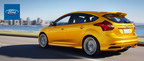 The 2014 Ford Focus is capable of traveling up to 40 mpg on the highway when equipped with the Ford SFE package.  (PRNewsFoto/Matt Ford)