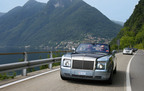 A Rolls-Royce procession makes its way around Lake Como at the close of the Villa d'Este Concorso d'Elegance celebrations.  (PRNewsFoto/Rolls-Royce Motor Cars)