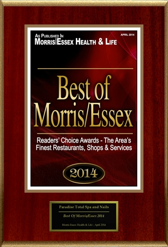 "Paradise Total Spa and Nails Selected For ""Best Of Morris/Essex 2014"" (PRNewsFoto/Paradise Total Spa and Nails)"