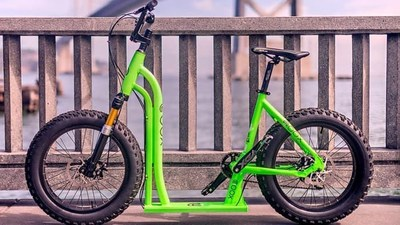 Moox Bike is the world's first-of-its-kind bike and scooter hybrid.