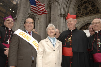 Saint Patrick's Cathedral - United States Supreme Justice Antonin Scalia and Mrs. Scalia -  61st Grand Marshal of the Columbus Day Parade hosted by the Columbus Citizens Foundation