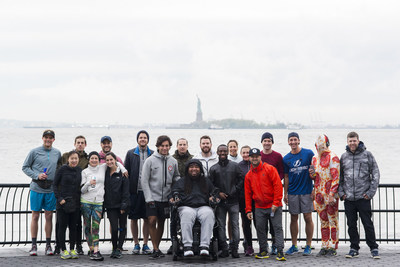 Eric LeGrand, a former Rutgers football player who was paralyzed in a 2010 game, hosted a Mother's Day Selfie Run with his mom Karen in New York's Battery Park to celebrate the Wings for Life World Run. Eric is a leading voice in shining a light on spinal cord injury research.