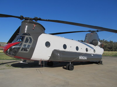 This Chinook CH-47D is the first of its kind to be converted for commercial use by Billings Flying Service.