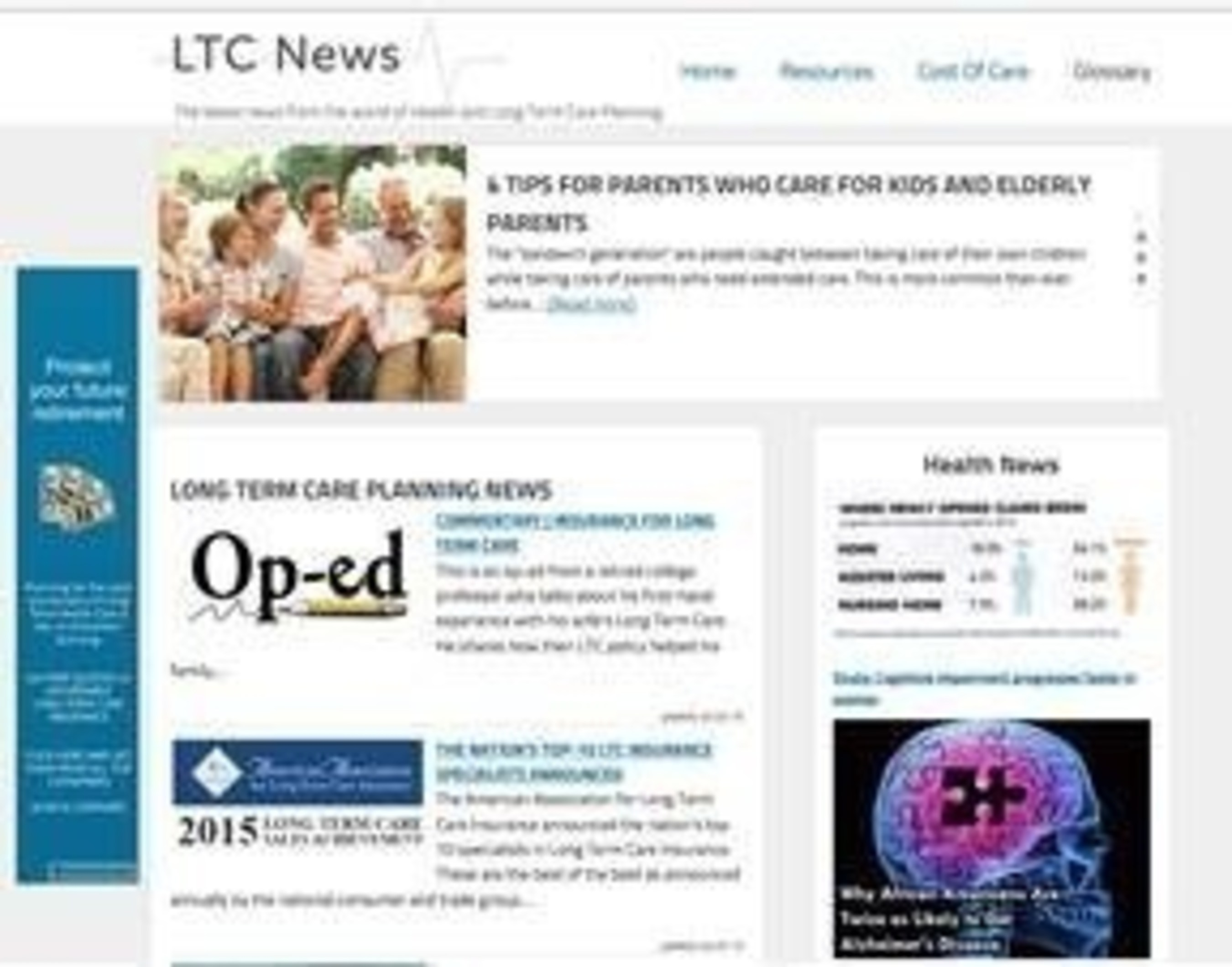 New Website Provides News on Long Term Care Planning and Health Care