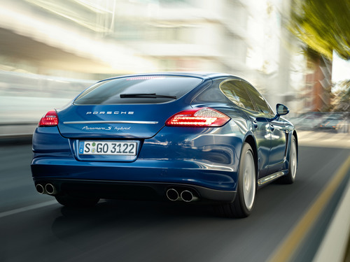 The Panamera S Hybrid is the most fuel efficient Porsche of all time. It goes on sale later this year. (PRNewsFoto/Porsche Cars North America, Inc.)