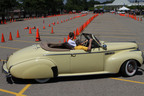 Student Learns to Drive a 1940 Buick at the Inaugural Hagerty Driving Experience on Collector Car Appreciation Day, Friday, July 8 at the Automotive Hall of Fame in Dearborn, Mich.  (PRNewsFoto/Hagerty Insurance Agency, LLC.)