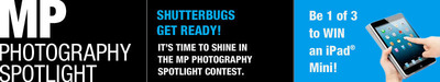 Enter the MP Spotlight on Photography Facebook Contest for your chance to win an Apple iPad Mini!  (PRNewsFoto/Modern Postcard)