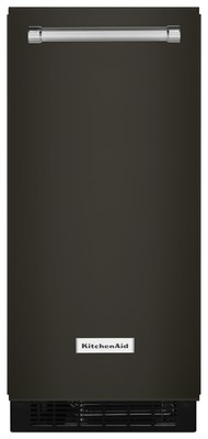 """15"""" Black Stainless Automatic Ice Maker"""