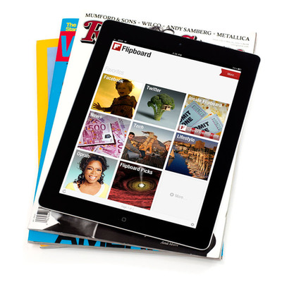 Flipboard, a Social Magazine for the iPad, Now Has More Content and Adds LinkedIn for Industry News. (PRNewsFoto/Flipboard)