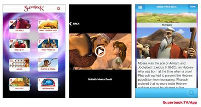 Superbook Kids Bible App.