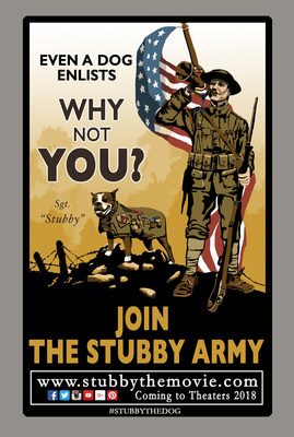 Official teaser poster for Stubby - An American Hero