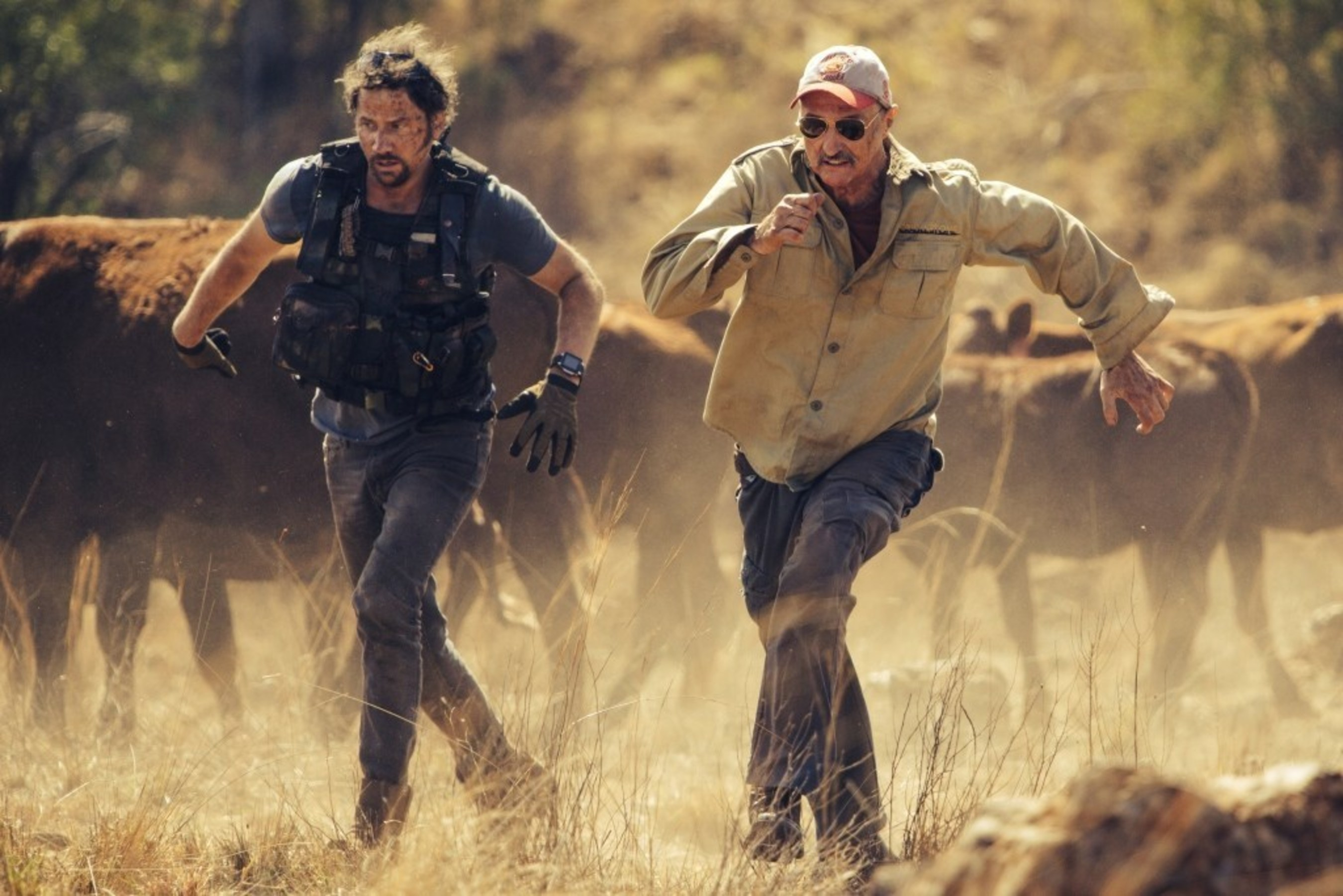 """Michael Gross (right) and Jamie Kennedy star in Tremors 5 from Universal Pictures Home Entertainment"""