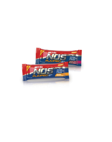 New MET-Rx NOS Pumped Delivers An Energy-Boosting Pre-Workout In A Bar