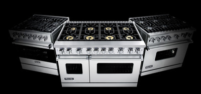 The most innovative ranges in Viking history, the 7 Series ranges join the Viking 3 Series and 5 Series ranges as an ultra-premium extension of the renowned Viking brand, offering a new level of design and cooking performance.  Viking 7 Series ranges feature 23,000 BTU Elevation Burners(TM) with brass flame ports, adapted from the Viking Commercial product line and are combined with a fully-featured convection oven to create a restaurant-caliber range unlike any other in the residential market.  (PRNewsFoto/Viking Range, LLC)