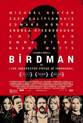 "Regal Entertainment Group offers Buy One, Get One Free tickets for ""Birdman"". Image Source: Fox Searchlight Pictures"