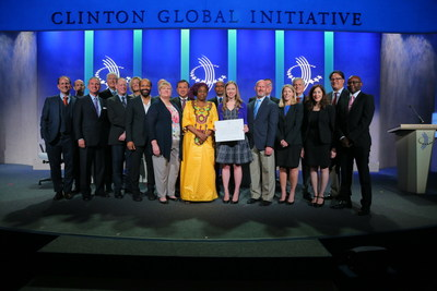 Dr. Stephen Kahn, President of the Abundant Foundation, honored for rapid Ebola diagnostic research on main Plenary stage at Clinton Global Intiative 2015 annual meeting