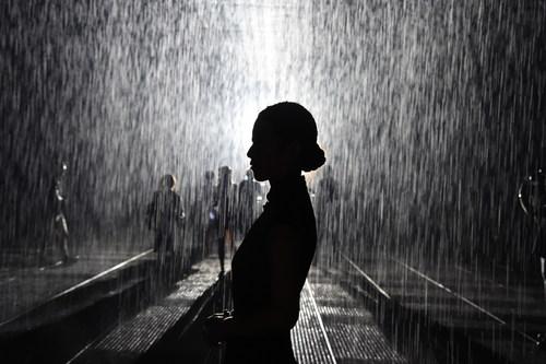 Rainroom at Yuz Museum Shanghai 2015 (PRNewsFoto/VW Volkswagen AG) (PRNewsFoto/VW Volkswagen AG)